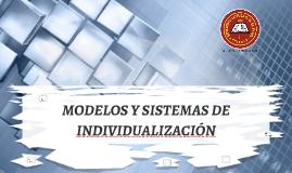 MODELOS Y SISTEMAS DE INDIVIDUALIZACIÓN