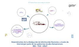 Determinantes de la divulgación de información financiera a través de  Internet por parte de los gobiernos locales bonaerenses.
