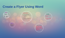 Flyer Using Word