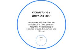 Ecuaciones lineales 3x3