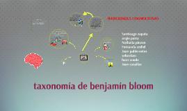 taxonomia de benjamin bloom