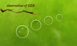 observation of  GEB