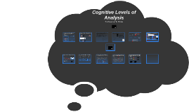 Cognitive Levels of Analysis