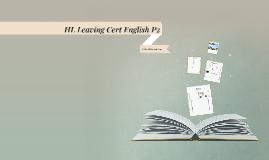 HL Leaving Cert English P2