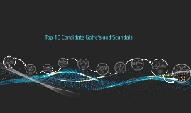 Top 10 Candidate Gaffe's and Scandals