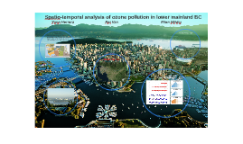 Spatio-temporal analysis of ozone pollution in lower mainlan