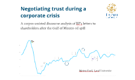 Negotiating trust during a corporate crisis