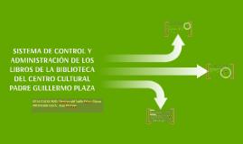 SISTEMA DE CONTROL Y ADMINISTRACIÓN DE LOS LIBROS DE LA BIBL
