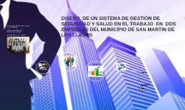 Copy of DISEÑO  DE UN SISTEMA DE GESTIÓN DE SEGURIDAD Y SALUD EN EL