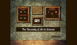 Persuasive Speech: The Necessity of Art in Schools