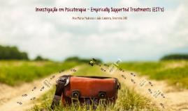 Investigação em Psicoterapia - EST's