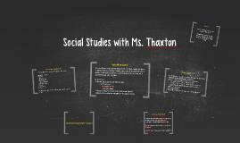Social Studies with Ms. Thaxton