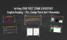 Writing YOUR FIRST STAAR EXPOSITORY