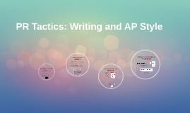 PR Tactics: Writing and AP Style