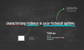 socio-technical resilience