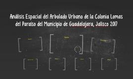 Análisis del Arbolado Urbano de la Colonia Lomas del Paraíso