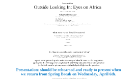 OutsideIn: Eyes on Africa