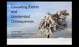 Snow and Ice: Cascading Events and Unintended Consequences