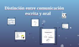 Distinción entre comunicación