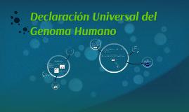 Declaracion Universal del Genoma Humano
