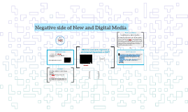 Negative side of New and Digital Media