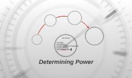 Determining Power