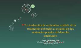 Copy of La traducción de sentencias