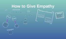 How to Give Empathy