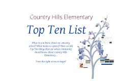 Country Hills Top Ten List