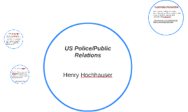 US Police/Public Relations