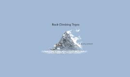 Rock Climbing Types