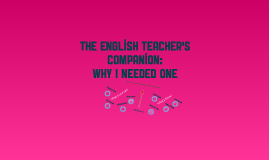 Book Response: The English Teacher's Companion