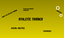 Career: Athletic Trainer