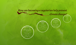 How can becoming a vegetarian help prevent climate change?