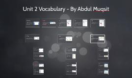 Unit 2 Vocabulary