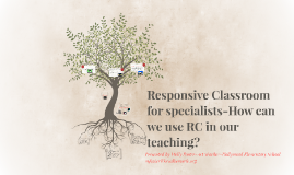 Responsive Classroom for specialists
