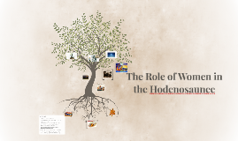 The Role of Women in the Hodenosaunee