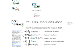 God Speaks, Responding to His voice -5t'18