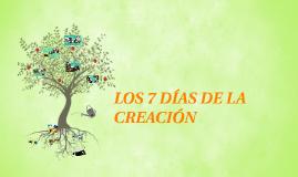 Copy of Copy of LOS 7 DÍAS DE LA CREACIÓN