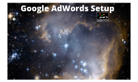 Google AdWords Setup