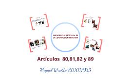 Mapa mental artículos de  la constitución mexicana