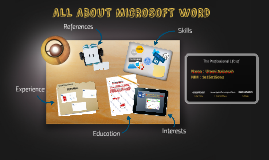 ALL ABOUT MICROSOFT WORD