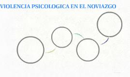 VIOLENCIA PSICOLOGICA EN EL NOVIAZGO