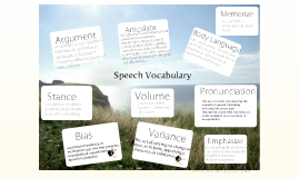 Speech Vocabulary