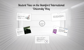 Student View on the Stamford International University Way