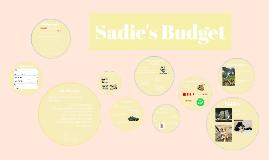 Sadie's Budget