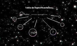 Copy of Tabla de especificaciones