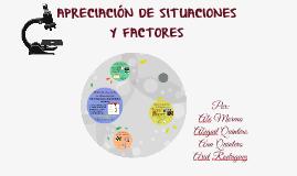 APRECIACIÓN DE SITUACIONES Y FACTORES