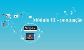 Módulo III - pontuação