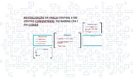 REVITALIZAÇÃO DA PRAÇA CENTRAL E DO CENTRO COMUNITÁRIO DO BA